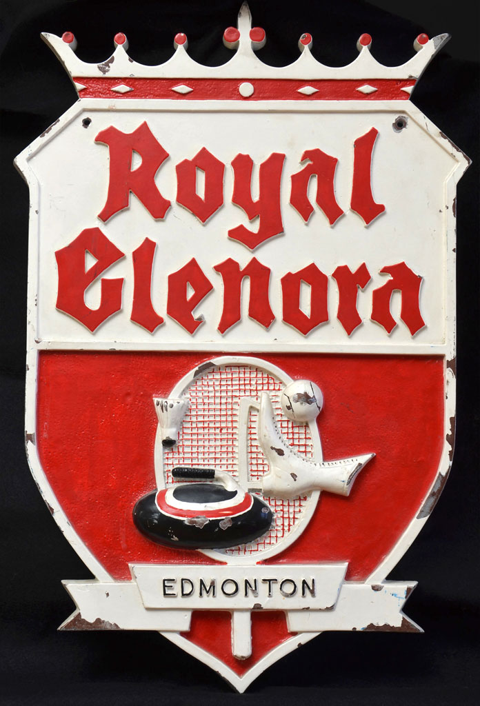 Royal Glenora Club plaque before treatment