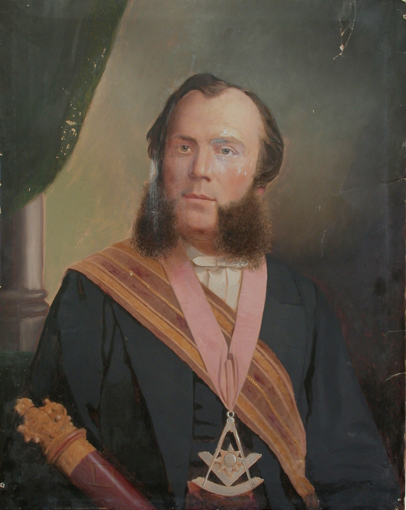 Portrait of John Willison Hutton before treatment